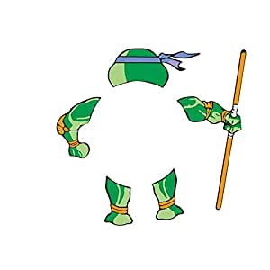 Car Stickers Teenage Mutant Ninja Turtles Creative Cartoon Decals For Cars Logo Colorful