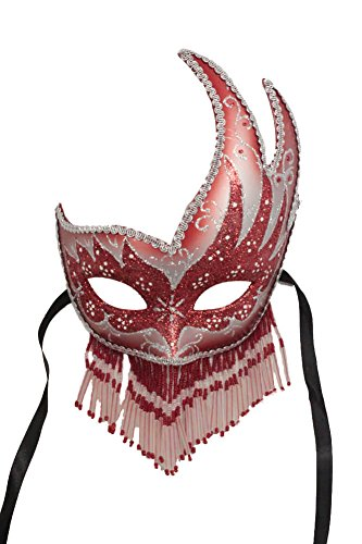 RedSkyTrader Womens Sparkling Beaded Party Mask One Size Fits Most Multicoloured