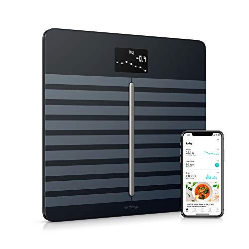 Withings / Nokia | Body Cardio - Heart Health & Body Composition Digital Wi-Fi Scale with smartphone app, Black (Best Fitness Tracker For Weight Loss 2016)