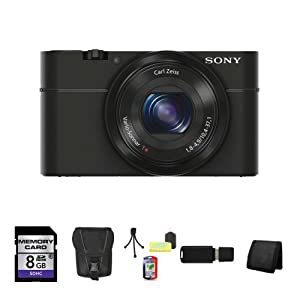 Sony Cyber-shot DSC-RX100 Digital Camera (Black) Package (Package 1)
