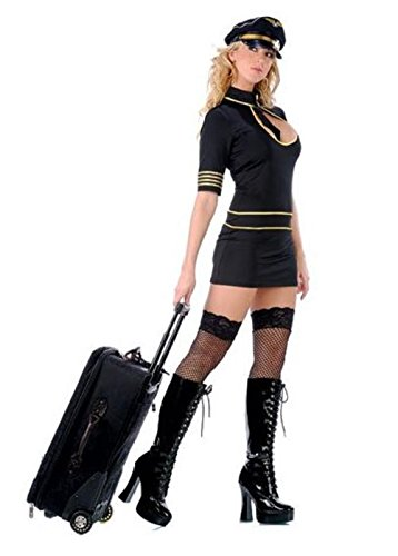 Sexy Flight Attendant (Flight Attendant Costume Black)