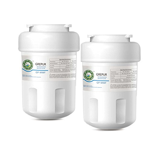GREPUR Replacement for GE MWF, MWFP, MWFA, GWF, GWFA, SmartWater, Kenmore 9991, 46-9991, 469991 Refrigerator Water Filter,2pack by GREPUR