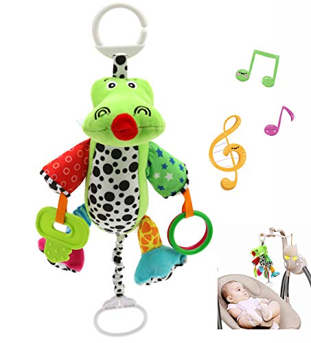 eurofield Baby Musical Plush Toy Crocodile Animal Kids Toy,Travel Activity Plush Toy with Soft Teether for Boys Girls(Musical Style