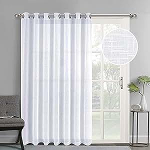 Amazon Com Nicetown Linen Like Patio Door Curtains
