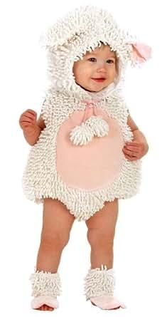 Princess Paradise Baby Girls' Premium Laura The Lamb, White/Pink, 6-12 Months