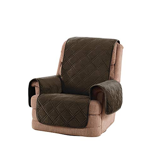 SureFit Triple Protection Recliner, Furniture Cover, Chocolate