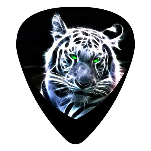 (Tiger Green Eyes Guitar Picks Celluloid 12 Pack Shape For Acoustic Guitar Mandolin Electric Guitar And Bass)