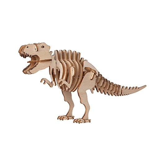 (Torch 3D Wood Puzzle Wooden DIY Children Gift Collection (Dinosaur))