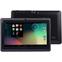 Malloom 7Inch Google Android 4.4 Quad Core Tablet PC 1GB + 8GB Dual Camera Wifi Bluetooth (Black)