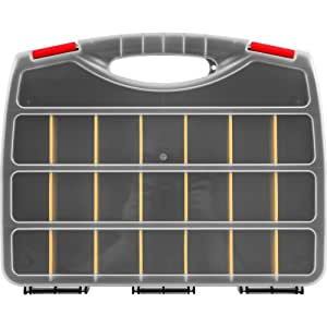 Stalwart Parts Organizer Box with 23 Compartments