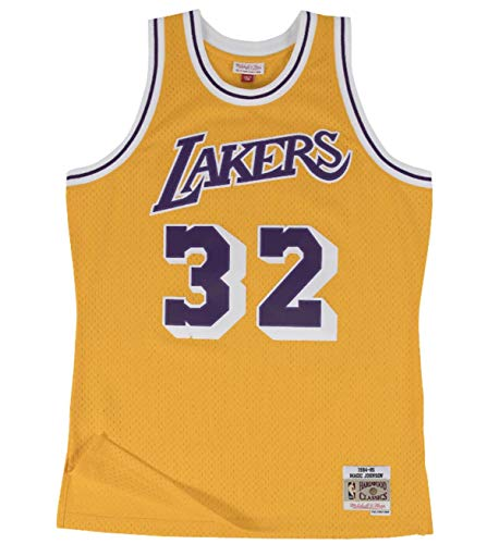 Mitchell & Ness Los Angeles Lakers Magic Johnson 1984 Home Swingman Jersey (X-Large) ()