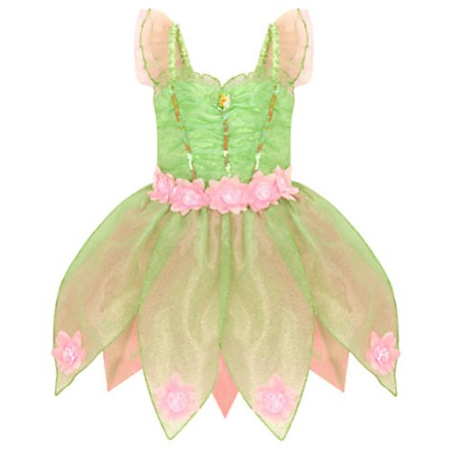 (Disney Store Deluxe Heart-shaped Jewel Tinker Bell Tinkerbell Costume (M Medium)