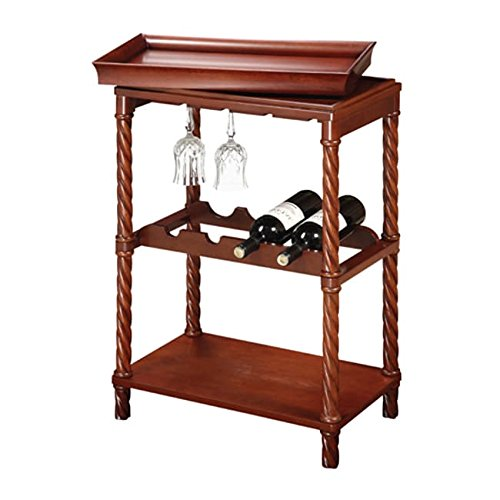 Sofaweb.com Read-to-Serve Wine Rack/Bar Stand - Vintage Cherry Finish