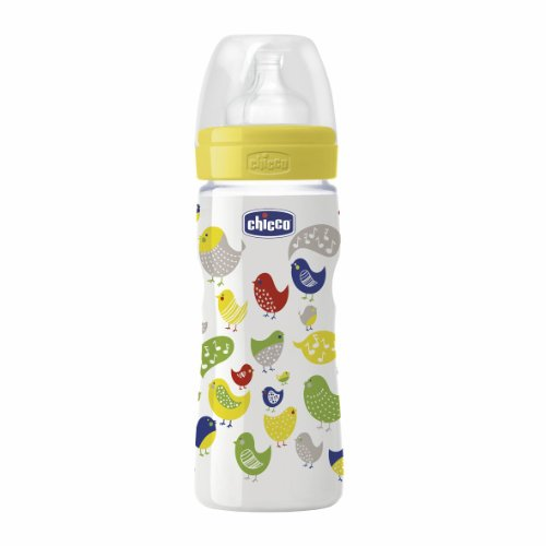 Cheap Chicco Baby Well Being Feeding Plastic Silicon Bottle 4m+