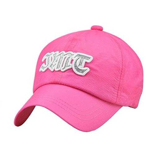 Acvip Casquette Réglable Vacance Hat Fille Cap Soleil De Garçon Rose Baseball Chapeau Rouge 4F6Hqd4