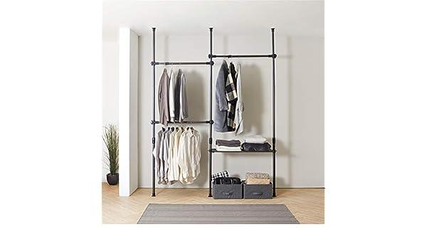 Armario telescópico de altura ajustable, organizador de ropa para ...