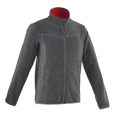 4052e8a9a3a Quechua Forclaz 200 Men s Mountain Hiking Fleece Jacket - Mottled Grey ...