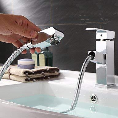 SEEKSUNG toque contemporáneo Art Deco/piscina retro moderno con ducha extraíble con alve cerámica entregó un agujero para...