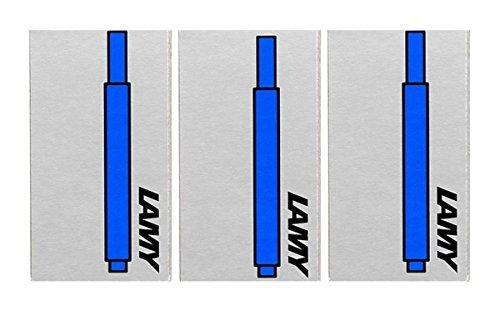 Lamy T10 - Cartucce d'inchiostro blu lavabile per penna stilografica, ricarica per tutte le penne stilografiche Lamy. (Confezione da 3 - 15 cartucce)