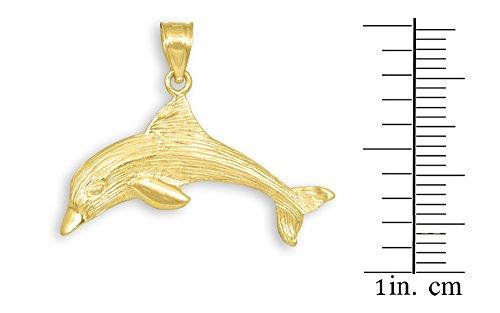 10 ct 471/1000 Or Dauphin Structure Pendentif Collier (Livre Avec un 45 cm Chaine)