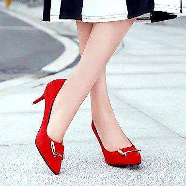 Boucle Noir Rouge 2 5 LvYuan Chaussures Talons black Similicuir Automne 4 à Talon Femme Marche ggx Eté Aiguille 5 à cm f71w7gnzxq