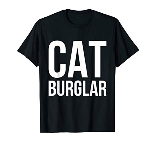 Funny Cat Burglar Outlaw Thief Tee T Shirt