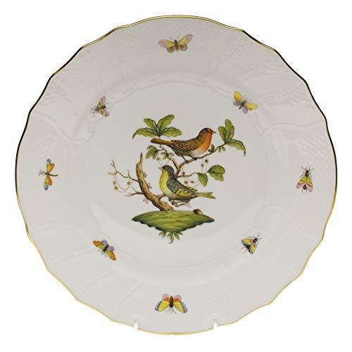 Herend Rothschild Bird Porcelain Dinner Plate Motif #3