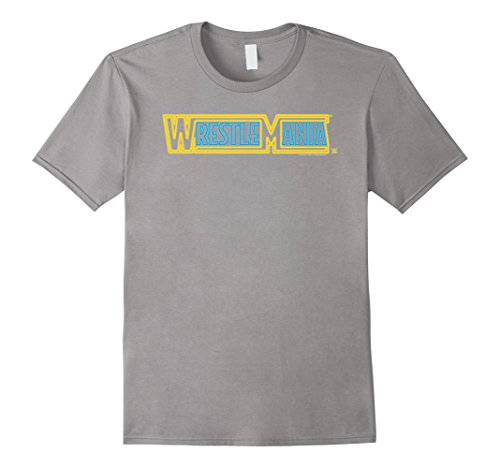 Mens WWE Wrestlemania Logo Neon Sign Small Slate