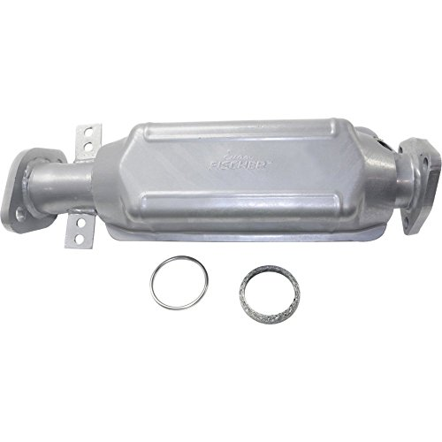 (EvanFischer REPH960301 Silver Powder-Coated Catalytic Converter with Heat Shield)