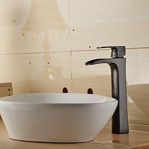 Oil Rubbed Bronze Waterfall Bathroom Sink Faucet,Single Handle ...