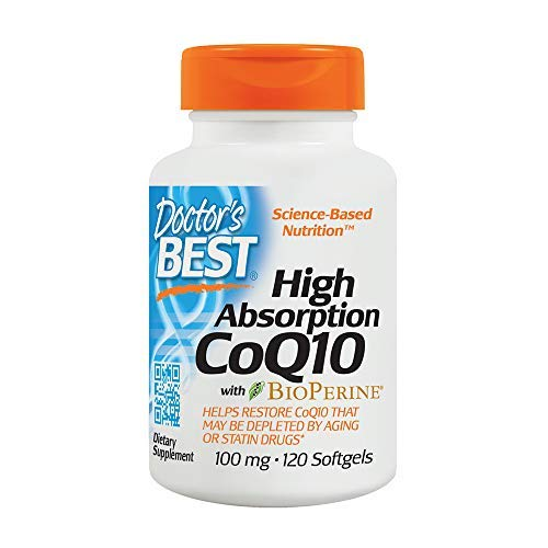 High Absorption CoQ10 with BioPerine Gluten Free Naturally Fermented MegaValue 2Pack (120Tablets) YiV#Doctor's by Doctor's Best (Image #1)