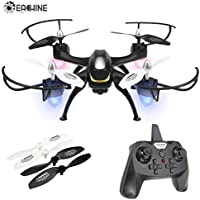 EACHINE E33C Drone con Telecamera HD RC Quadcopter 2MP 2.4G 6-Axis Headless Mode One-Key Return 3D Capovolte Luce a LED modalità 2(Nero)