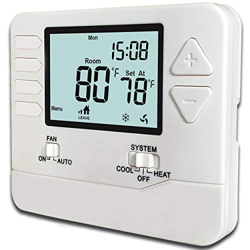(Heagstat H705 5-1-1-Day Single Stage Programmable Thermostat,1 Heat/1 Cool)