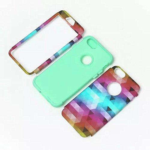 iPhone 6 Case , iPhone 6S Case, Lantier antichoc Case hybride triple couche de protection en plastique dur avec Housse silicone souple pour Apple iPhone 6 / 6S 4,7 pouces (Triangle Gary)