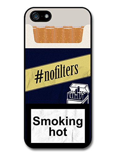Funny Cool No Filter Fake Cigarette Box Design with Smoking Hot Quote case for iPhone 5 5S