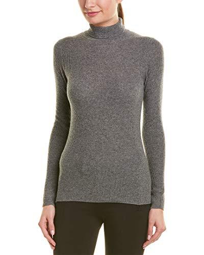 Vince Womens Turtleneck Cashmere Sweater, M, Grey