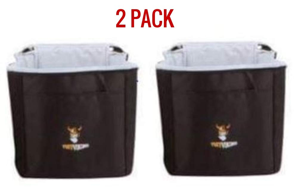 Tuff Viking Insulated Cooler Bags for Trunk Organizer | Car Truck Organizers and Cargo Storage for SUV, Auto, Minivan, Jeep Accessories (2 Pack, Black) by Tuff Viking