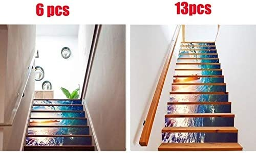 W-L Pegatinas de Escalera 6/1 3PCS Resumen 3D Escaleras de Pegatina de Vinilo de la Etiqueta de PVC Autoadhesivo Escalera Fondo de Pantalla Mural Escalera Decoración 18x100CM: Amazon.es: Hogar