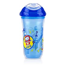 Nuby 9 oz No-Spill Insulated Cool Sipper, Blue