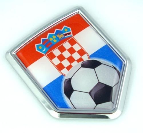 ag Car Chrome Emblem Sticker with Soccer ball ()