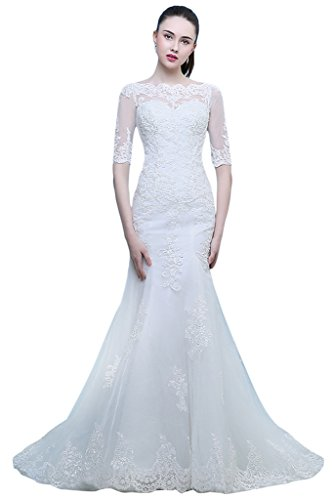 Vimans Mermaid Wedding Dresses Sleeves product image