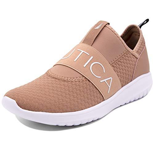 (Nautica Women Fashion Slip-On Sneaker Jogger Comfort Running Shoes-Rosemont-Blush-7.5)