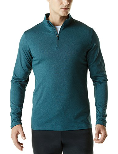 TSLA Men's Quarter Zip Pullover Sweatshirt, Lightweight Athletic Fleece Lining 1/4 Zip Sweatshirt