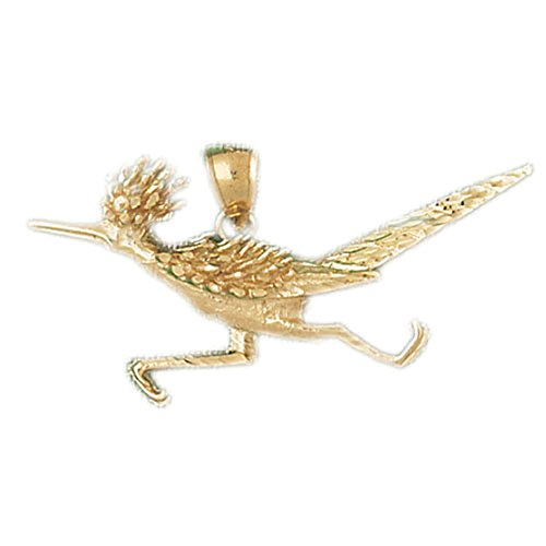 14k Yellow Gold Road Runner Pendant (Elegance Collection Runner)