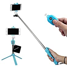 xhorizon TM SR Extendable Monopod with Bluetooth Remote and Tripod Stand, Bluetooth Shutter Selfie Stick with Tripod for iPhone 7/7plus iPhone 6S/6 Plus Samsung S6 S7 Edge and Other Smartphone