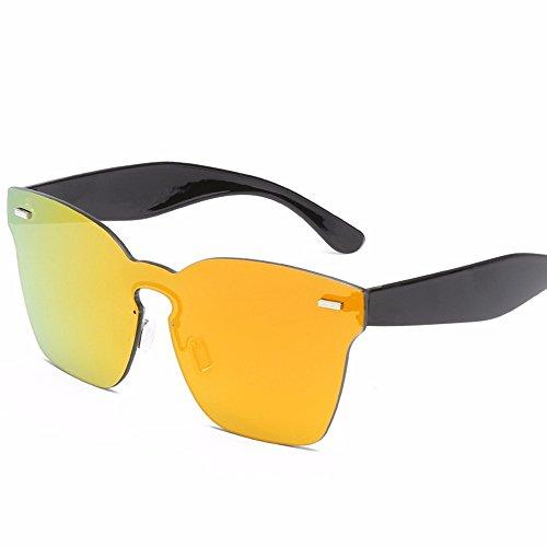 de anaranjada Vidrio PC de Mar Liuxc conjuntas Caja Ceniza Gafas Dama Gafas sol de Hombre de Tableta roja Grande de Sol Sol Transparente Sol Gafas vqIASzwq