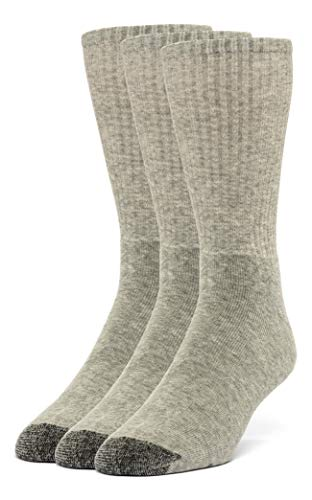 Galiva Women's Cotton Extra Soft Crew Cushion Socks - 3 Pairs,Small,Gray