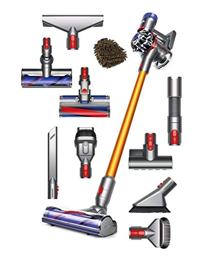 Dyson V8 Absolute Cord-Free Stick Vacuum Cleaner, Cordless Bagless HEPA Filter (Complete Set) w|Bonus: Premium Microfiber Cleaner Bundle