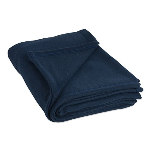 J&M Home Fashions Luxury Solid Twin/Twin XL Fleece Blanket or Throw (60x96 - Dark Blue) Ultra Soft, Cozy, Warm for Bed, Couch, Sofa, Camping, Beach