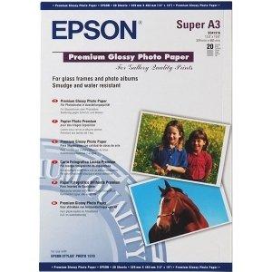 Epson Epson getto inchiostro cons Epson S041316 A3+ 20sht Prem G/Photo Pap C13S041316